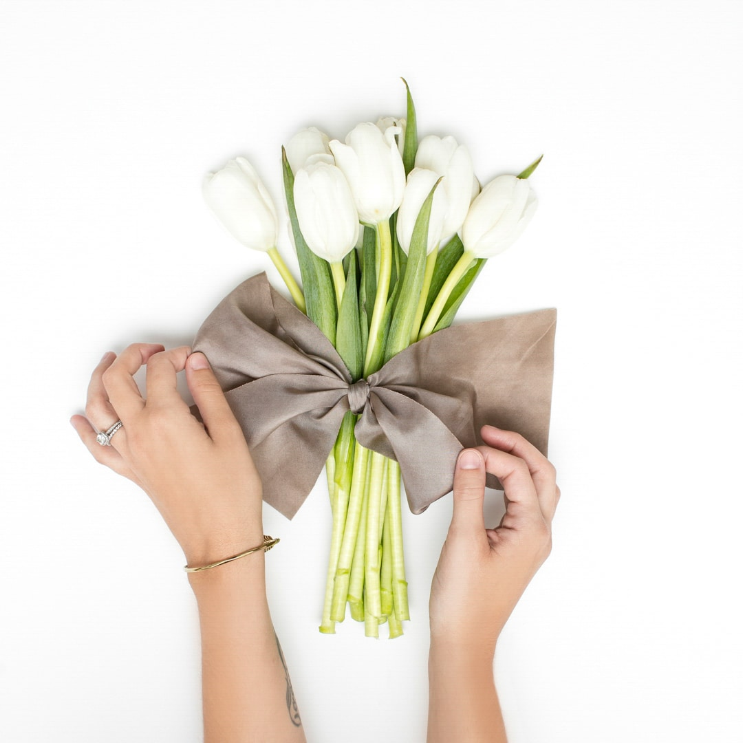 Flowers and a bow